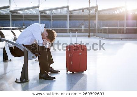 Vár romok érzelmi fotó szomorú hölgy Stock fotó © Novic