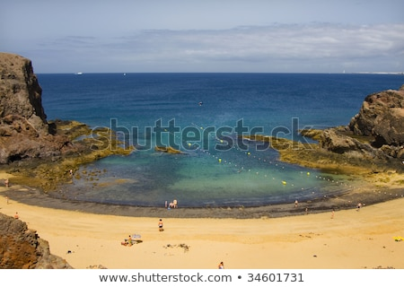 Playa de Papagayo (Parrot's beach) on Lanzarote, Canary islands, Stock photo © meinzahn