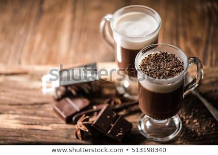 słodkie · deser · kubek · kawy · biały · żywności · tle - zdjęcia stock © jirkaejc