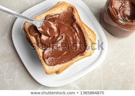 bread with chocolate cream stock photo © shutswis