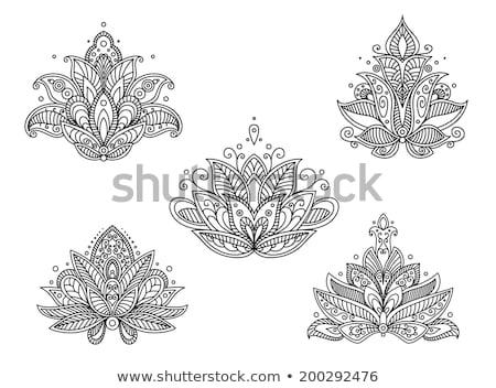 Abstrato floral isolado branco flor fundo Foto stock © anbuch