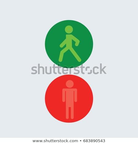 Gyalogos jel mutat széf kereszt 16 Stock fotó © chrisbradshaw
