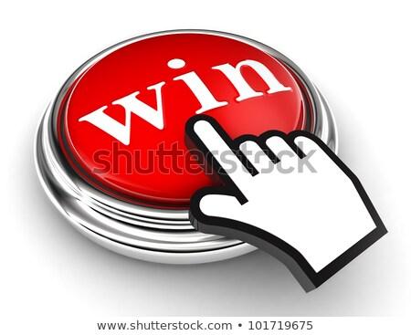 cursor · winnen · witte · hand · groene - stockfoto © ivelin