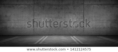 Garage with markings on the wall Stock photo © stevanovicigor