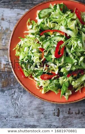 Gehakt salade voorjaar ui radijs peper Stockfoto © raphotos