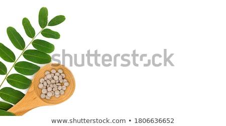 Pílulas isolado branco médico natureza Foto stock © natika