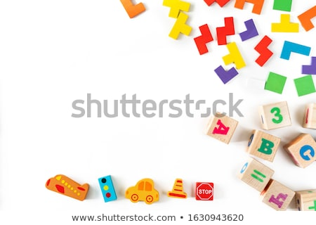 Free on Colored Wooden Childrens Alphabet Block. Stock photo © tashatuvango