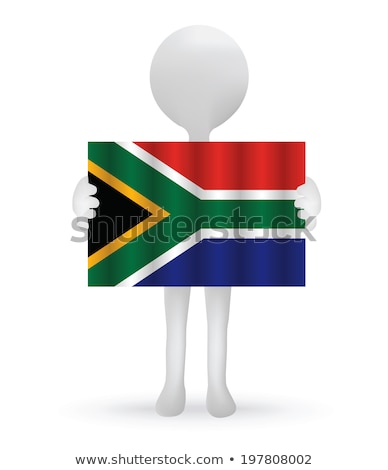 small 3d man holding a South African Flag Stock photo © Istanbul2009
