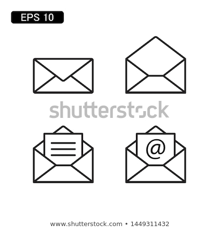 white postal envelope icon Stock photo © mayboro