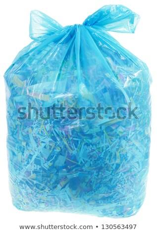 transparant · plastic · zak · papier · recycling · geïsoleerd - stockfoto © suljo