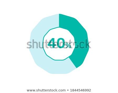 Stok fotoğraf: 40 · yüzde · kırmızı · kırk · numara · beyaz
