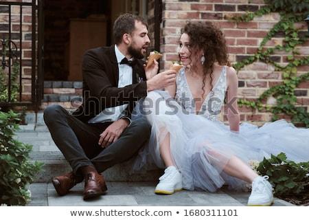 Funny bride Stock photo © adrenalina