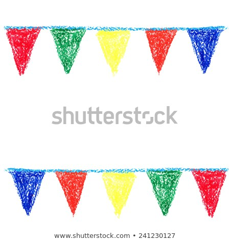 Viasz zsírkréta buli izolált fehér papír Stock fotó © gladiolus