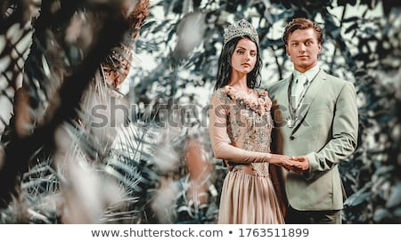 Gorgeous lady in long evening dress and with tiara on a head Stock photo © amok