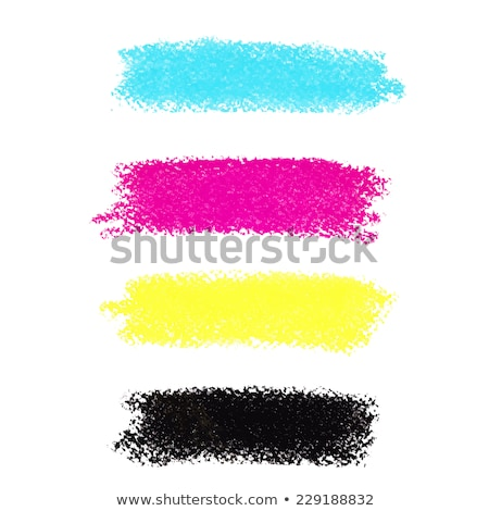 cmyk colors vector pastel crayon stains stock photo © gladiolus