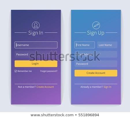 Signe up romantique internet fenêtre cadre Photo stock © tanya_ivanchuk