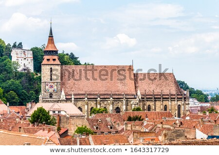 The Black Church cathedral and The White Tower in Brasov medieva Stock photo © pixachi