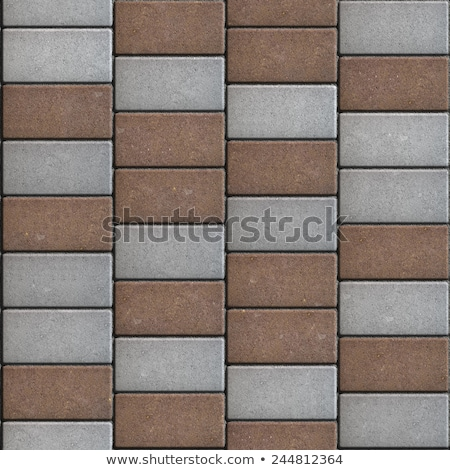Rectangular Paving Slabs Laid as Zigzag. Seamless Texture. Stock photo © tashatuvango