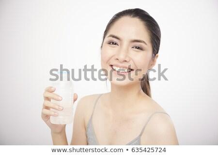 dalgın · kadın · şişe · kısa · elbise - stok fotoğraf © deandrobot