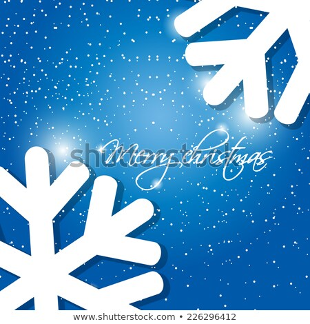 Holiday Greeting Card With Abstract Christmas Snowflakes And Place For Our Text Stock fotó © mcherevan