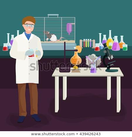 человека лаборатория образец костюм маске Сток-фото © Klinker