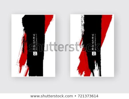 Paint Brush Red Vector Icon Design Stock photo © rizwanali3d