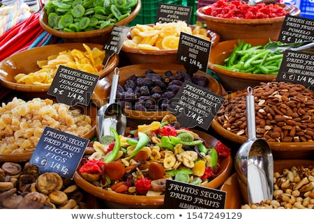secas · frutas · comida · fundo - foto stock © elxeneize