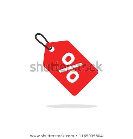árengedmény címke üzlet ajánlat címke ikon Stock fotó © Dxinerz
