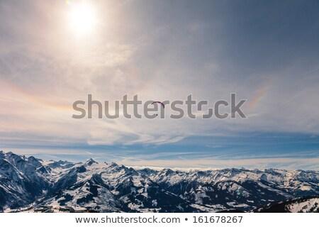 paragliding at austrian alps stock photo © romitasromala