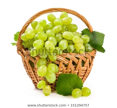 wet grape berry bunch in basket Stock photo © Mikko