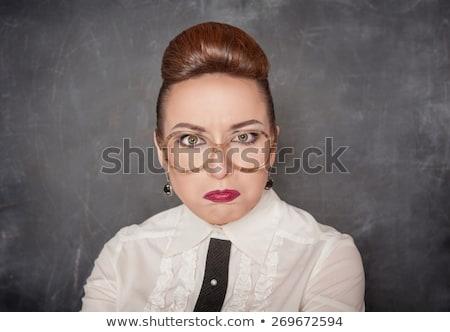 учитель смешные очки пер бизнеса улыбка Сток-фото © PetrMalyshev