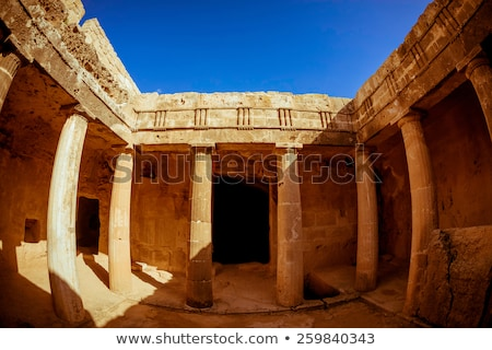 tombs of the kings a famous tourist destination paphos distric stock photo © kirill_m
