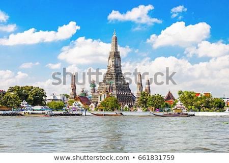 Templom hajnal Bangkok látható út város Stock fotó © romitasromala