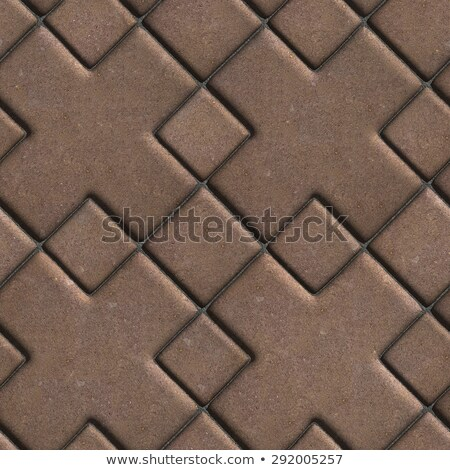 Brown Paving  Slabs with a Cross in the Center. Stock photo © tashatuvango
