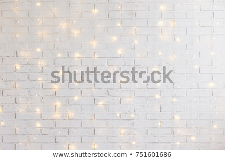 Stock photo: decorative light on the white wall