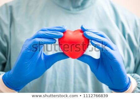 Orvos tart agy mri közelkép portré Stock fotó © HASLOO