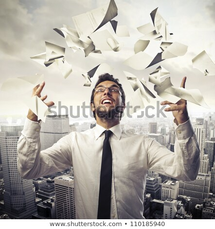3d man throw papers concept Stock photo © nithin_abraham