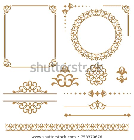 Foto stock: Decorativo · floral · elementos · conjunto · folha · beleza