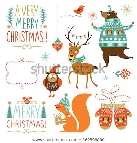 christmas sale design set   labels emblems stock photo © netkov1