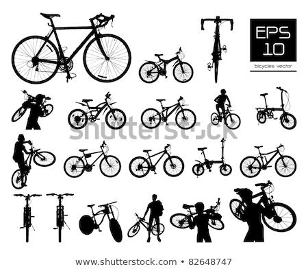 Részletes bicikli vektor eps illusztráció fekete Stock fotó © Akhilesh
