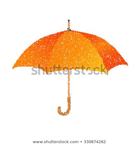 Punteado naranja paraguas ilustración textura Foto stock © gladiolus