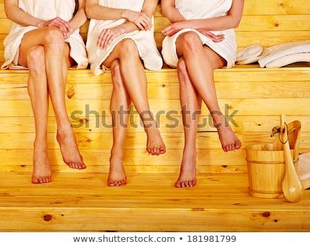 Sauna estância termal terapia jovem belo pessoas Foto stock © lunamarina