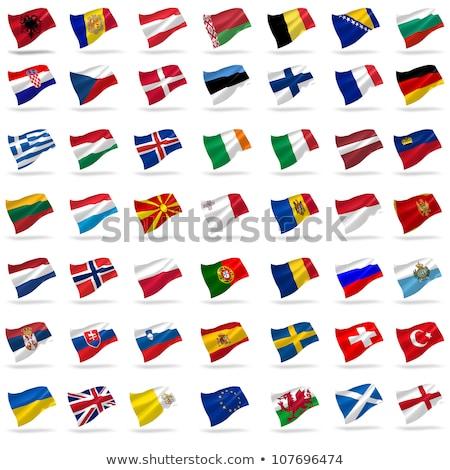 Törökország Izland zászlók puzzle izolált fehér Stock fotó © Istanbul2009