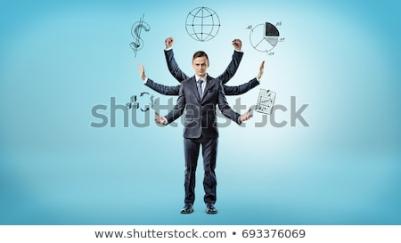 businessman with six hands stock photo © Paha_L