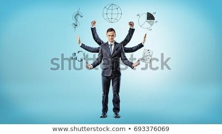 Stock fotó: üzletember · hat · kezek · férfi · test · csapat