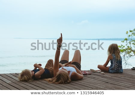 mother with child in lounge on veranda  Stock photo © Paha_L