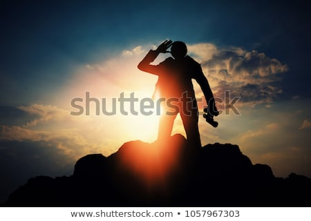 Stockfoto: Vent · zonsondergang · avond · rock