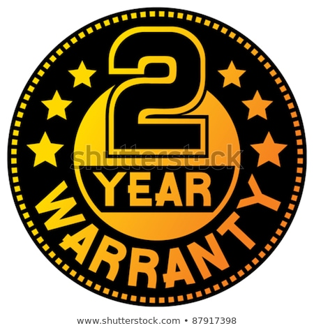 Año garantía amarillo vector icono diseno Foto stock © rizwanali3d