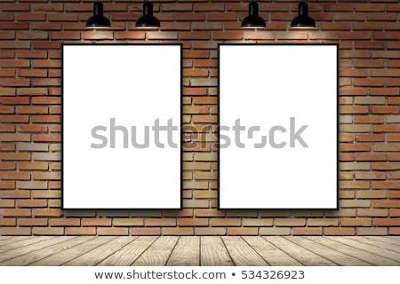 black frames on white brick wall 2 Stock photo © Paha_L
