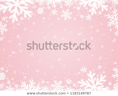 pink background with snowflakes, vector illustration Stock photo © rommeo79